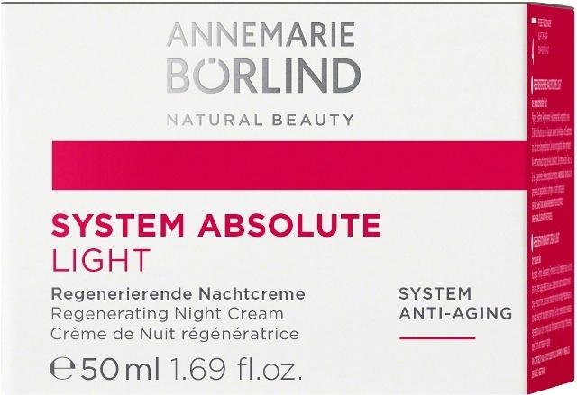 System Absolute Crema de noapte anti-ageing cu textura light, 50ml - Annemarie Borlind