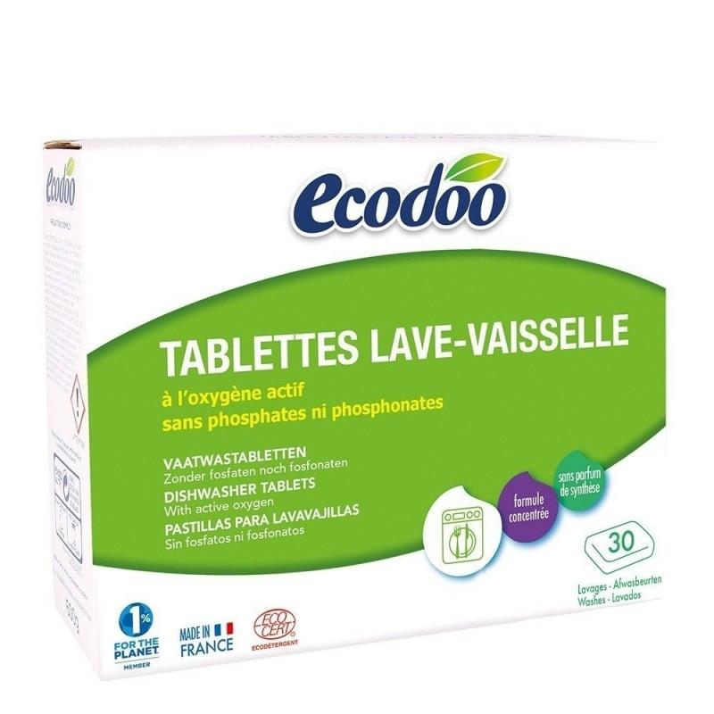 Tablete bio pentru masina de spalat vase, 30 buc - Ecodoo
