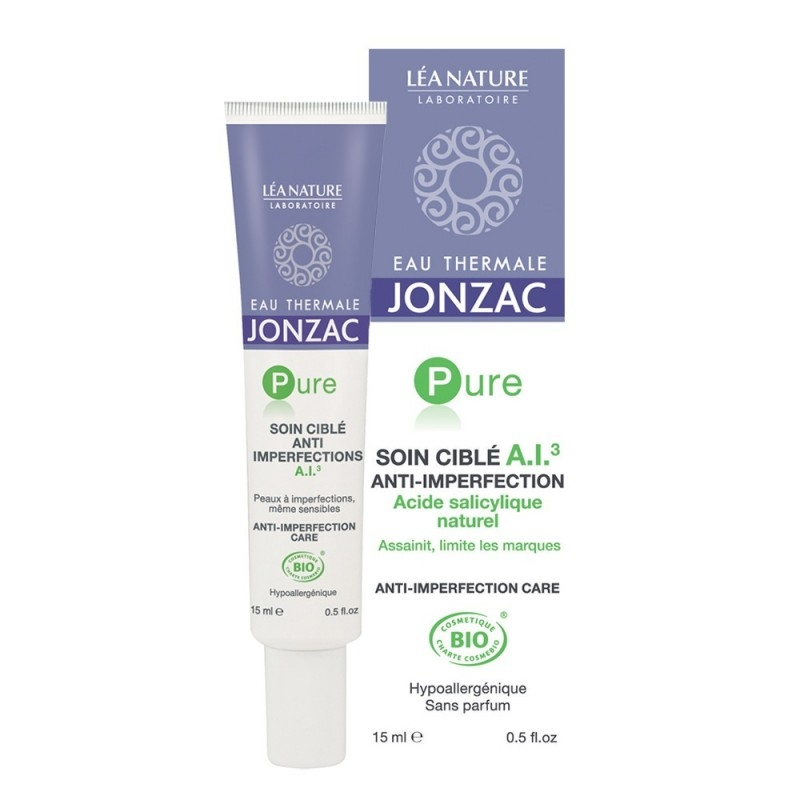 Tratament cu acid salicilic natural pentru acnee, imperfectiuni, cicatrici, Pure 15ml  - JONZAC