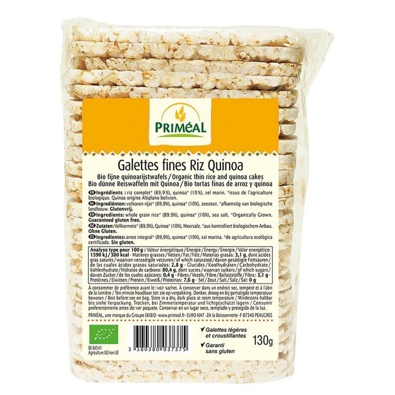 Turtite subtiri bio cu quinoa si orez, 130g - Primeal