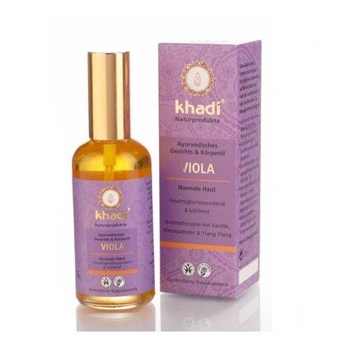 Ulei cu violete, toate tipurile de piele (ten si corp), 100 ml - Khadi