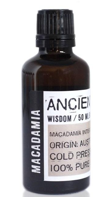 Ulei din nuci de macadamia presat la rece, 50ml - Ancient Wisdom