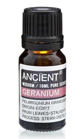 Ulei esential de Geranium (Pelargonium Graveolens), 10ml - Ancient Wisdom