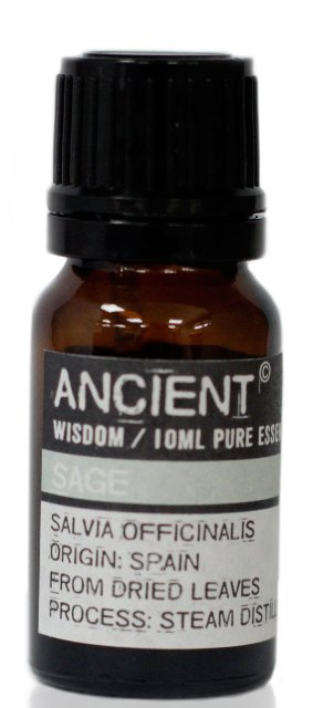 Ulei esential de Salvie (Salvia Officinalis), 10ml - Ancient Wisdom