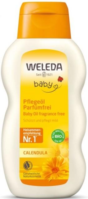 Ulei natural cu galbenele pentru bebelusi, 200 ml - Weleda Baby