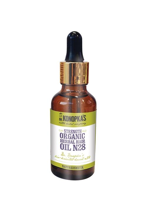 Ulei organic No.28, tratament pentru intarirea firului de par, 30 ml - Dr. Konopka
