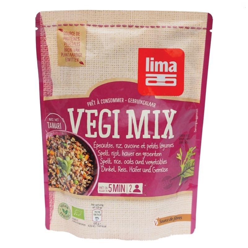 Vegi mix spelta, orez, ovaz si legume bio, 250g - Lima