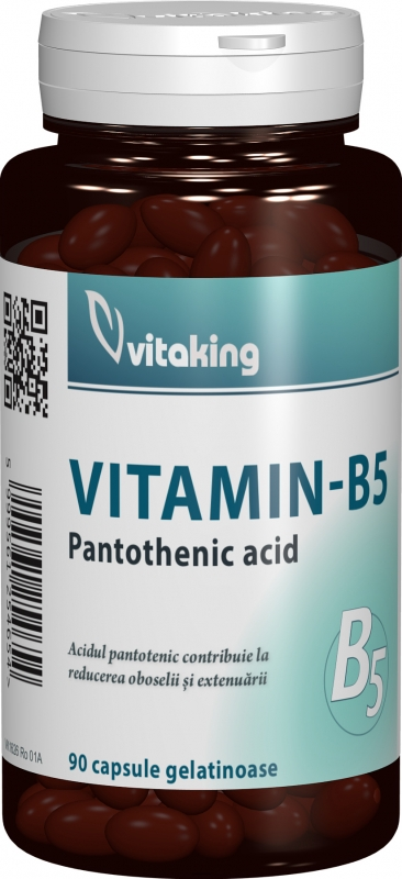 Vitamina B5 (Acid pantotenic) 200mg, 90 cps - Vitaking