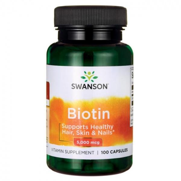 Vitamina B7 (Biotina) 5mg, 100 cps - Swanson
