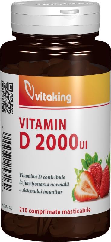 Vitamina D 2000 UI, 210 comprimate masticabile - Vitaking