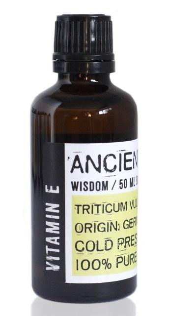 Vitamina E naturala din germeni de grau, 50 ml - Ancient Wisdom