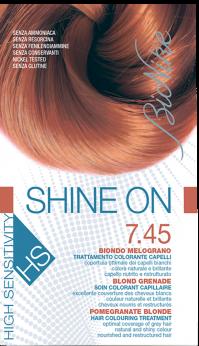 Vopsea de par hipoalergenica Shine On HS, Pomegranate Blonde 7.45 - Bionike