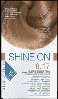 Vopsea de par hipoalergenica Shine On HS, Teak Light Blonde 8.17 - Bionike