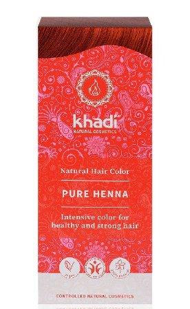 Vopsea de par naturala Henna pura (Rosu) - Khadi
