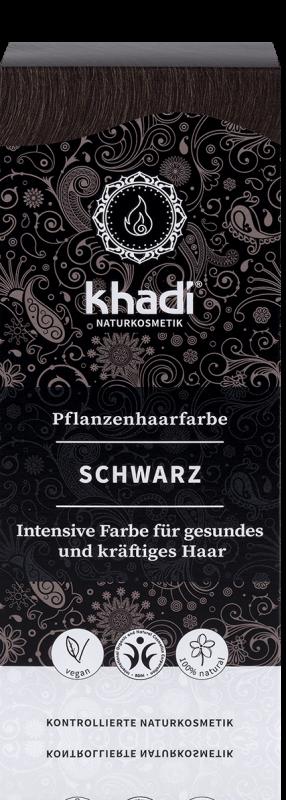 Vopsea de par naturala Negru - Khadi