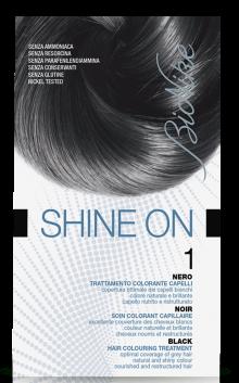 Vopsea de par tratament Shine On, Black 1 - Bionike