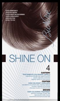 Vopsea de par tratament Shine On, Brown 4 - Bionike