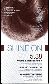Vopsea de par tratament Shine On, Chocolate Light Brown 5.38 - Bionike