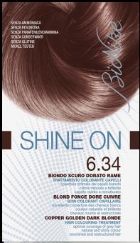 Vopsea de par tratament Shine On, Copper Golden Dark Blonde 6.34 - Bionike