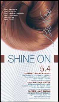 Vopsea de par tratament Shine On, Copper Light Brown 5.4 - Bionike