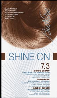 Vopsea de par tratament Shine On, Golden Blonde 7.3 - Bionike