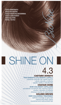 Vopsea de par tratament Shine On, Golden Brown 4.3 - Bionike