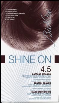 Vopsea de par tratament Shine On, Mahogany Brown 4.5 - Bionike