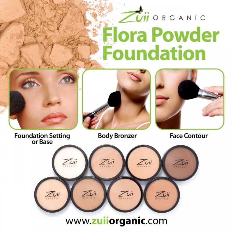 Pudra compacta organica, cu ingrediente florale, Creme - ZUII Organic