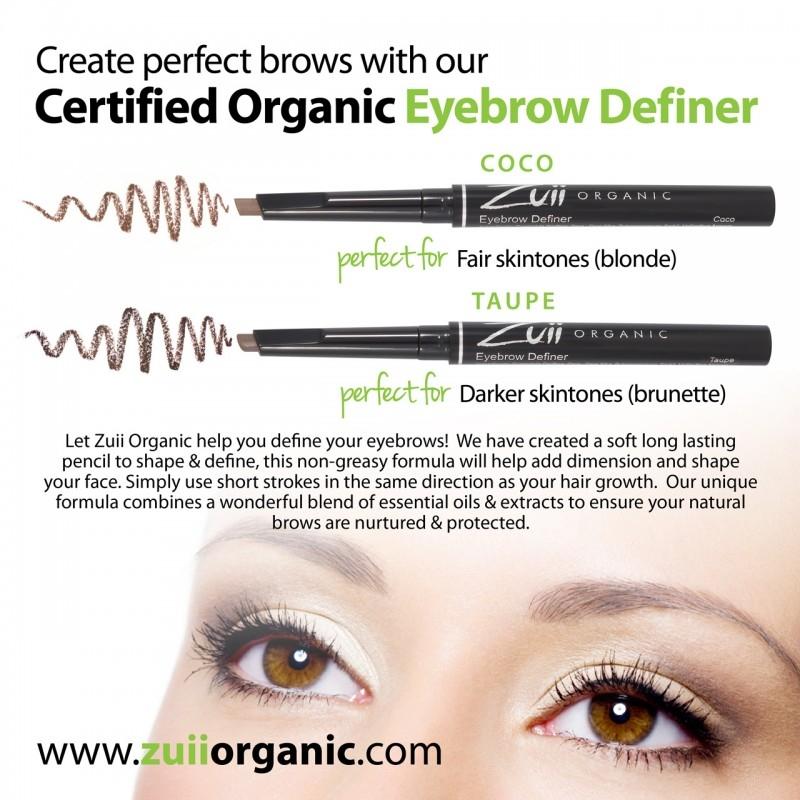 Creion organic pentru definirea sprancenelor, Taupe (inchis) - ZUII Organic