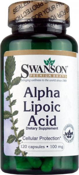 Acid Alfa Lipoic 100mg, 120 cps - Swanson