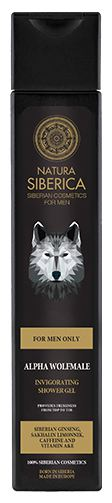 Gel de dus revigorant pentru barbati cu plante siberiene Alpha Wolfmale, 250 ml - Natura Siberica