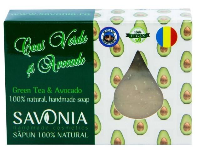 Sapun natural handmade Ceai Verde si Avocado - Savonia