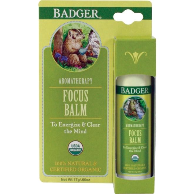 Balsam organic pentru aromaterapie Focus Mind, 17g -  Badger