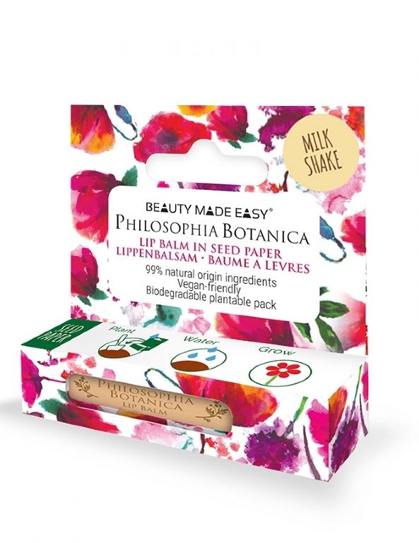 Balsam de buze in ambalaj plantabil, Milkshake - Beauty Made Easy