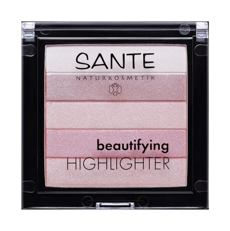 Iluminator pentru ten Beautifying Highlighter 02 Rose - SANTE NATURKOSMETIK