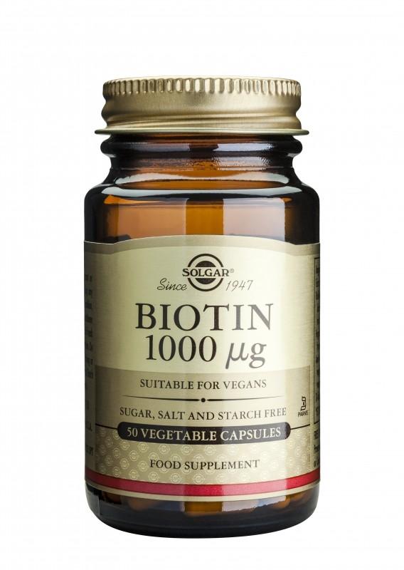 Biotin 1000 µg, 50 capsule vegetale - Solgar