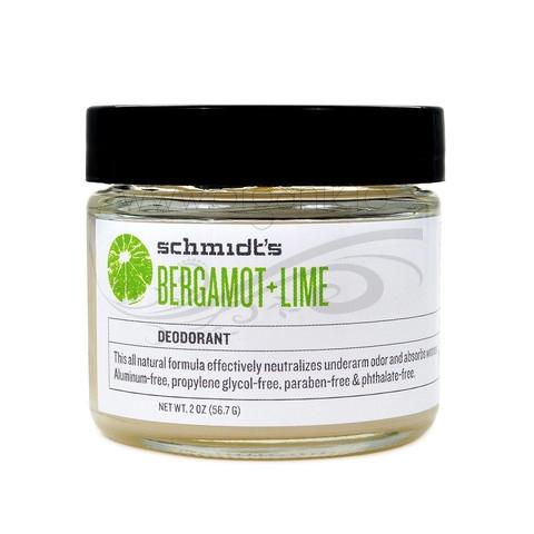 Deodorant natural cu bicarbonat Bergamot & Lime, borcanel - Schmidts's Deodorant