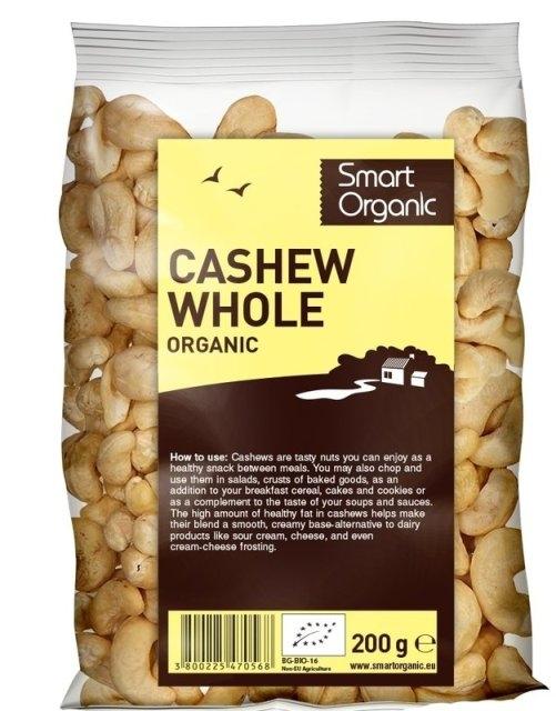Caju crud bio, 200g  - Smart Organic