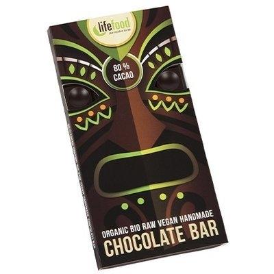 Ciocolata raw bio cu 80% cacao, 35g - Lifefood