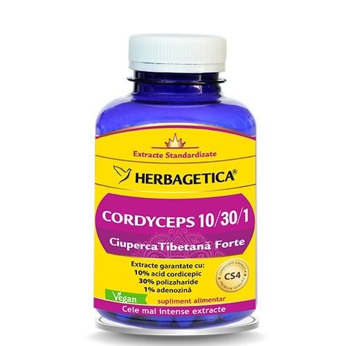Cordyceps, Ciuperca Tibetana Forte, 60 capsule - HERBAGETICA