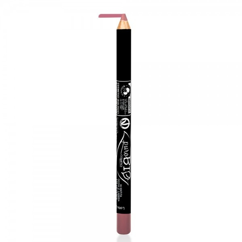 Creion bio contur ochi si buze Mauve Pink 08 - PuroBio