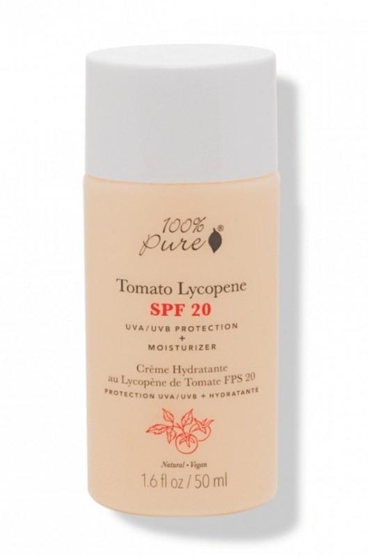 Crema hidratanta cu licopen din tomate, SPF 20 - 100 Percent Pure Cosmetics