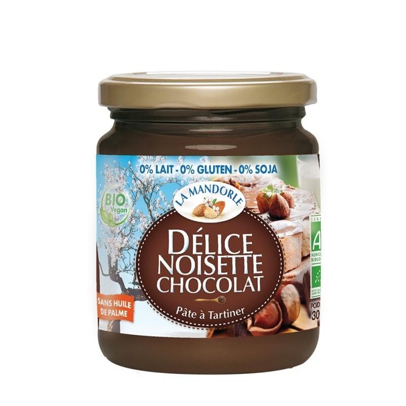 Crema bio de ciocolata si alune, 300g - La Mandorle