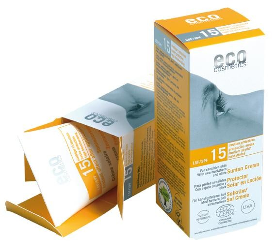 Crema bio protectie solara FPS15, 75 ml - Eco Cosmetics