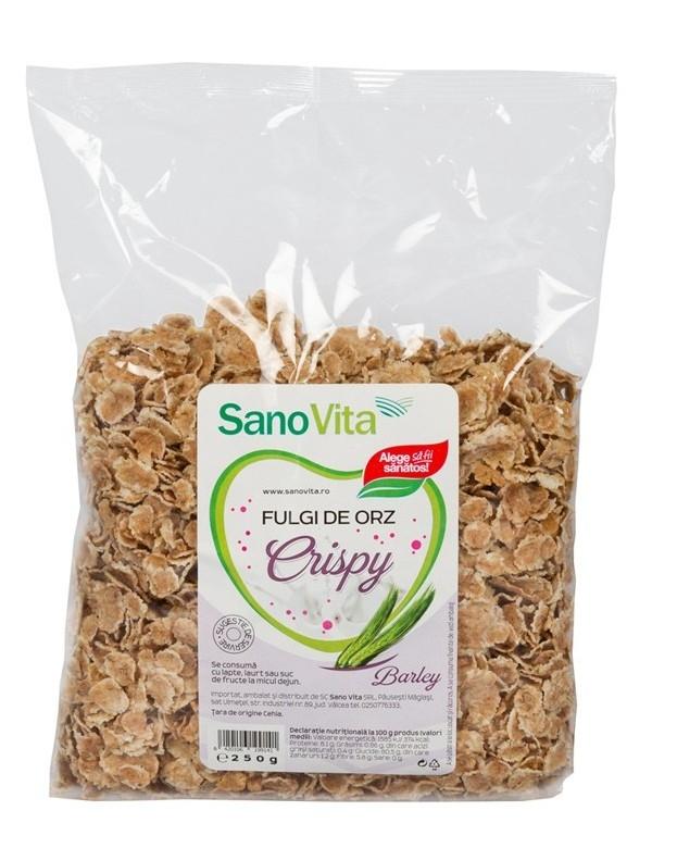 Crispy Fulgi de orz, 250g - SanoVita