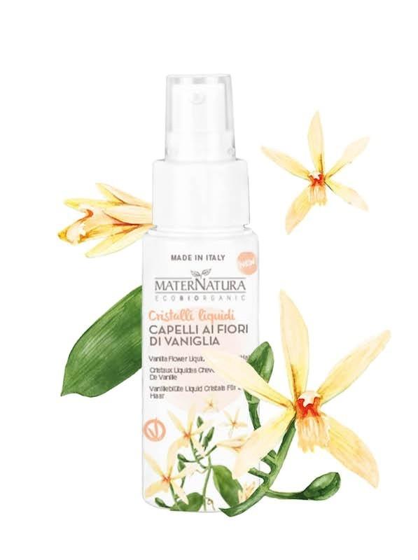 Cristale lichide pentru par cu flori de vanilie, 50ml - MaterNatura