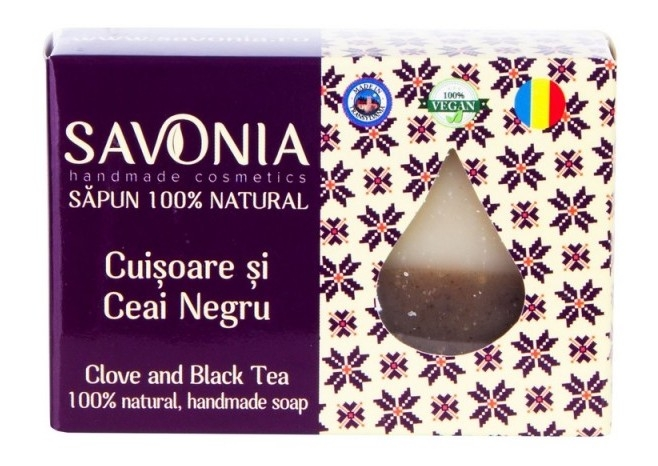 Sapun natural handmade Cuisoare si Ceai Negru - Savonia