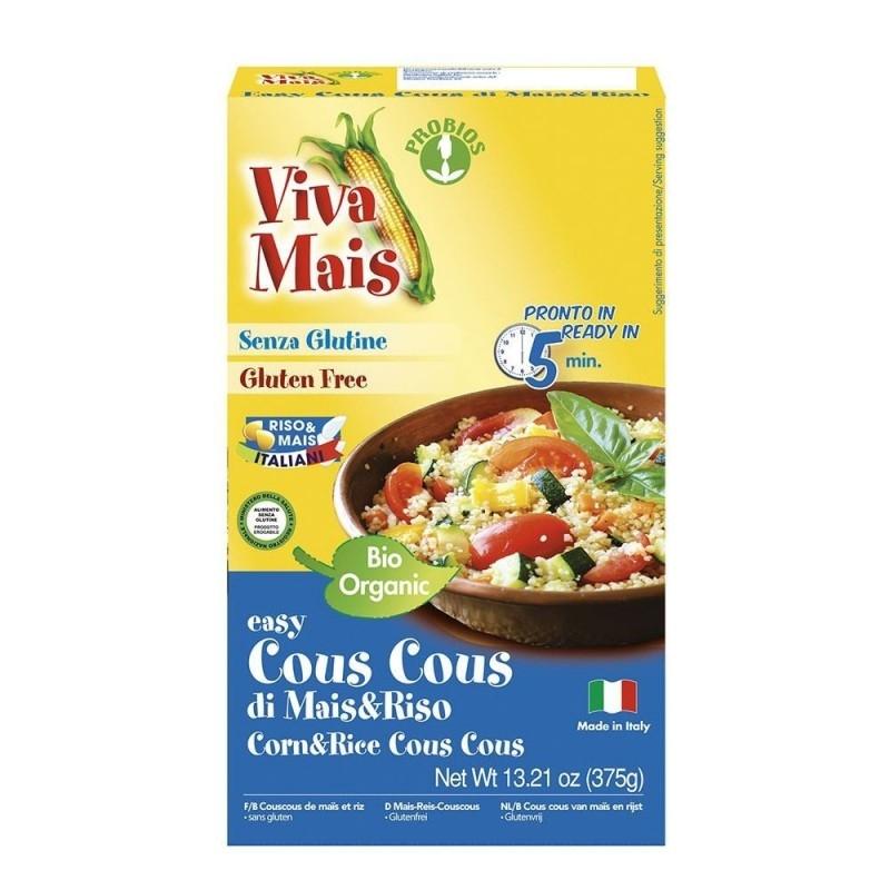 Cuscus bio din porumb si orez, fara gluten, 375g - Probios