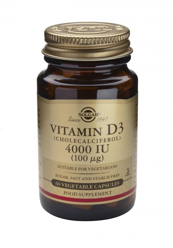 Vitamin D3 4000IU, 60 capsule vegetale - Solgar