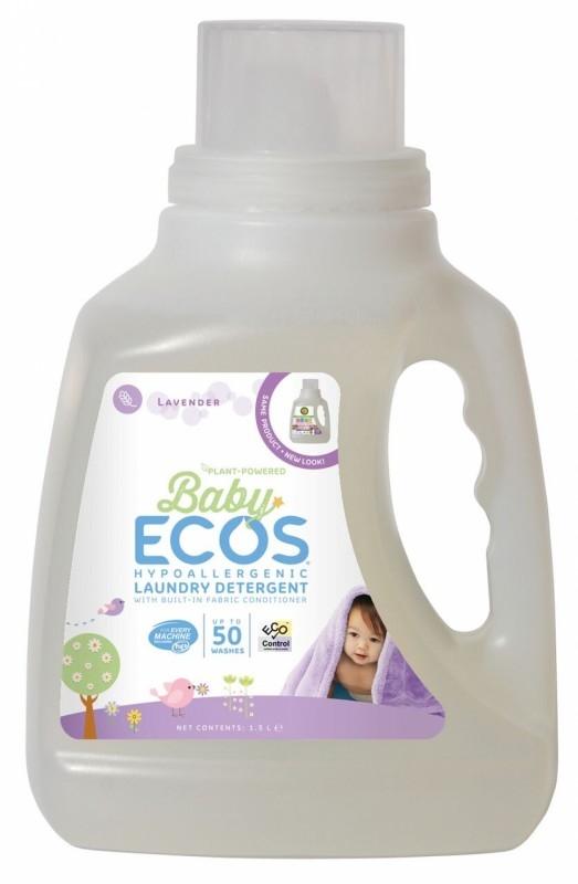 Detergent lichid hipoalergenic pentru bebelusi cu Lavanda, 1.5 litri - ECOS